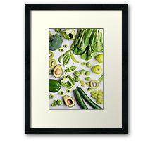 Green food on white Framed Print