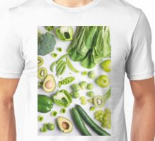 Green food on white Unisex T-Shirt
