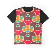 Distorted shapes in retro colors Graphic T-Shirt