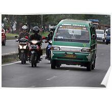 angkot-public transportation in bandung Poster