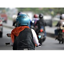 riding motorcycle Photographic Print