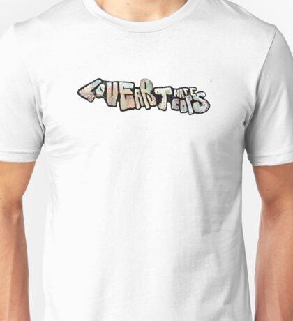 Love art hate cops graffiti Unisex T-Shirt
