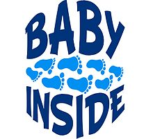 Baby inside footprints boy by Style-O-Mat