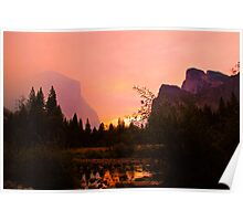 Fiery Morning at Yosemite Poster