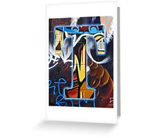 Urban Alphabet T Greeting Card