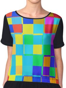 Colorful squares pattern Chiffon Top