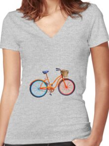 Serenity bicycle Women's Fitted V-Neck T-Shirt