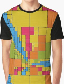 Colorful squares abstract design Graphic T-Shirt
