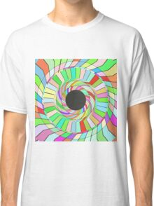 Colorful whirlpool abstract design Classic T-Shirt