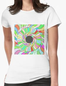 Colorful whirlpool abstract design Womens Fitted T-Shirt