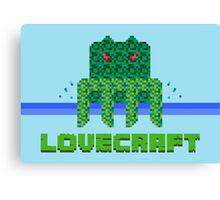 Lovecraft Minecraft Canvas Print