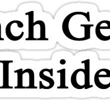 French Genius Inside Sticker