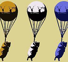 Flying goats 2 by Ednathum