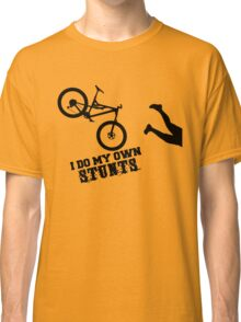 I Do My Own Stunts Funny Mountain Bike Classic T-Shirt