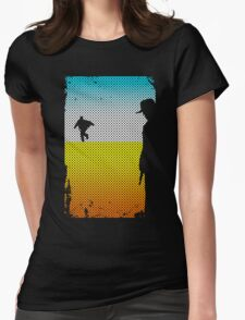 And The Gunslinger Followed Womens Fitted T-Shirt