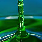 Green Water Drop by srhayward