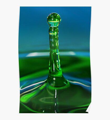 Green Water Drop Poster