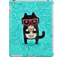 Coffee Cat and Doodles iPad Case/Skin
