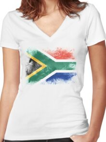 South Africa Women's Fitted V-Neck T-Shirt