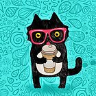 Coffee Cat and Doodles by kostolom3000