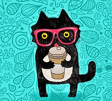 Coffee Cat and Doodles by Anna Alekseeva