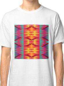 Colorful tribal texture Classic T-Shirt
