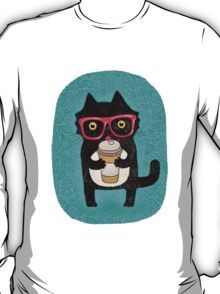 Coffee Cat and Doodles T-Shirt