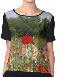 Poppies Chiffon Top