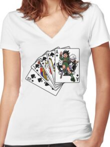 Gon and killua  Women's Fitted V-Neck T-Shirt