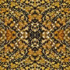 Black and Gold Fleur de Lis Beads 2 by StudioBlack