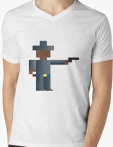 Cowboy Shooting Gun Wild West Mens V-Neck T-Shirt