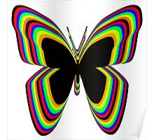 Multi-Colored Buttrfly Poster