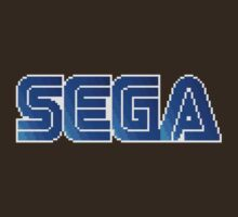 Sega (Pixel) Logo Shirt by AvalancheJared