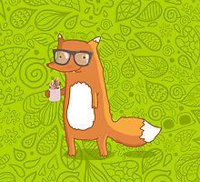 Fox & coffee by kostolom3000
