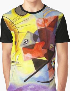 Yellow Red Blue Graphic T-Shirt