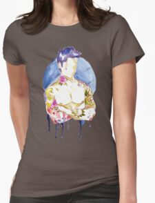 Watercolour tattoo. Womens Fitted T-Shirt
