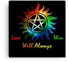 Love Will Always Win Canvas Print