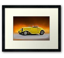 1932 Ford Roadster ...built in 1964 Framed Print