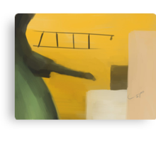 Playing airplane Canvas Print