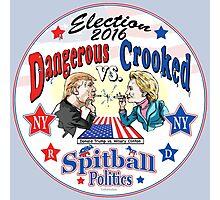 Trump VS Hillary Spitball Politics 2016 Photographic Print