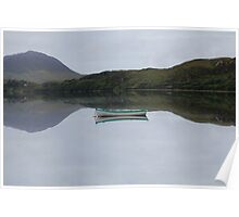 Reflection on the lake Cliften Connemara Galway Poster