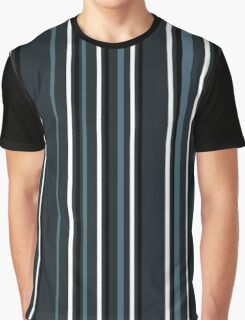 dark blue striped pattern Graphic T-Shirt