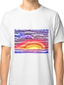 Abstract Sunset Classic T-Shirt