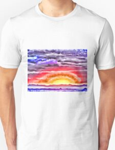 Abstract Sunset Unisex T-Shirt