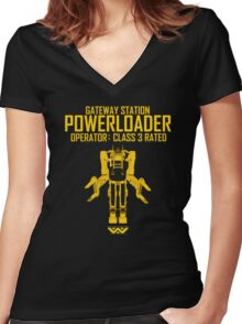 Powerloader - Class 3 Rated Women's Fitted V-Neck T-Shirt