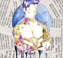 Watercolour tattoo - newspaper by Susanna Olmi