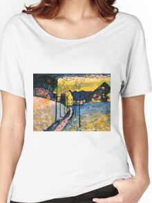 Colourful Landscape Kandinsky Painting Women's Relaxed Fit T-Shirt