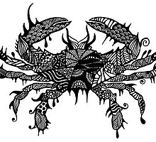 Prints of Crab #2 hand drawn art by martywoodskk