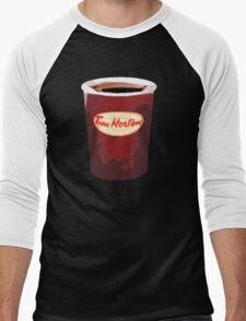 Tim Horton's Cup Vector Men's Baseball ¾ T-Shirt