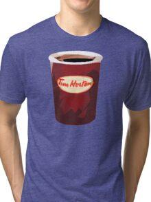 Tim Horton's Cup Vector Tri-blend T-Shirt